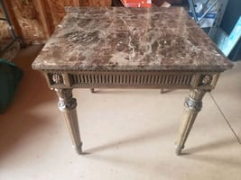 2 marble tables