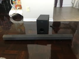 Sound bar and woofer(sony)