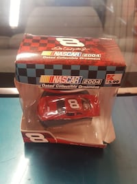 red Nascar toy sports coupe