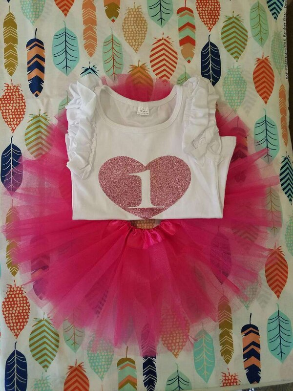 1 Year Old Birthday Outfit With Tutu