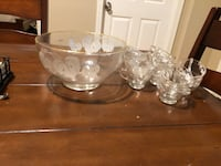 clear glass bowl and bowl Port Allen, 70767