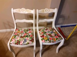 Floral antique chairs