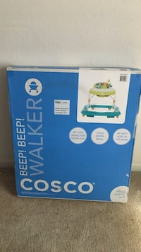 Green and white Cosco walker box