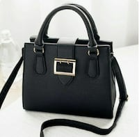 Small Black Tote bag with gold plated belt buckle Bethesda