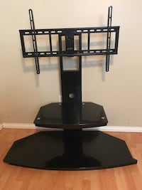 black glass-top TV stand with mount Edmonton, T6H 2B8
