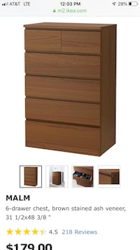 brown wooden 4-drawer chest Mount Prospect, 60056