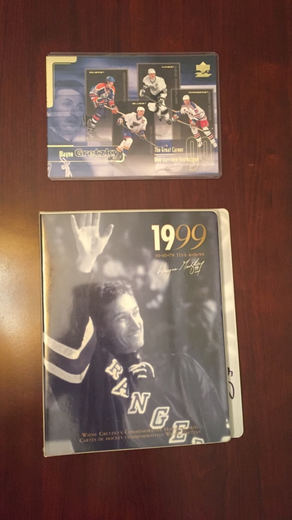2003 heritage classic signatures. the greats from montreal and edmonton who played in this game signed this collector gretzky commemorative hockey card collection