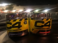 4 jars of C4 pre-workout powder (25 servings per jar)  2340 mi