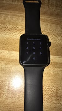 Space gray apple watch with black sports band Dayton, 45417