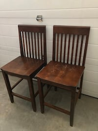 Shabby Chic Solid Wood Kitchen Barstools Set of 2