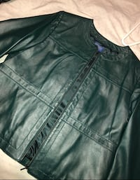 Authentic leather jacket with tags