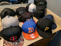 11 hats 8snapbacks and 3fitted caps