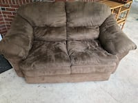 Brown suede 2-seat sofa $100 or best offer! Franklin Park, 08823