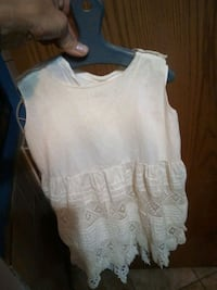 Antique white toddler slip with apron dress on  Cedar Falls, 50613
