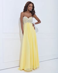 Tony Bowls Le Gala Yellow Prom Dress-Size 10
