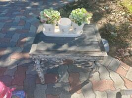 Small Shabby Chic Wood Table