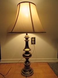 Brass table lamp with shade Burlington