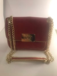 Michael Kors Suede Red Leather with Gold chain 546 km
