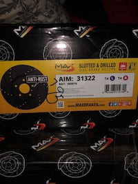 MaxBrakes Anti-Rust Drilled & Slotted Rotors & Brake Pads  Mississauga, L5N 1E5