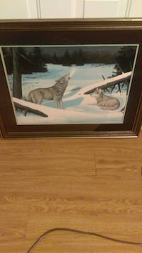 Timber Wolf Painting by Harry E Antis