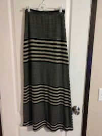 Beige and black striped maxi skirt Columbia, 38401