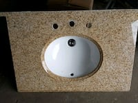 round white ceramic sink with faucet Montreal, H8Y
