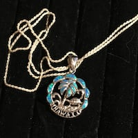 925 blue opal Hawaii necklace Glen Burnie, 21061