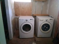 two white front-load clothes washer and dryer set Atlanta, 30318