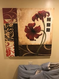 white and purple flower painting Canton, 48187