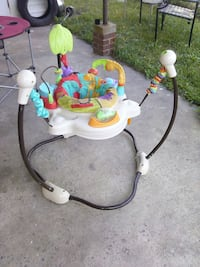 black,brown,white,teal jumperoo