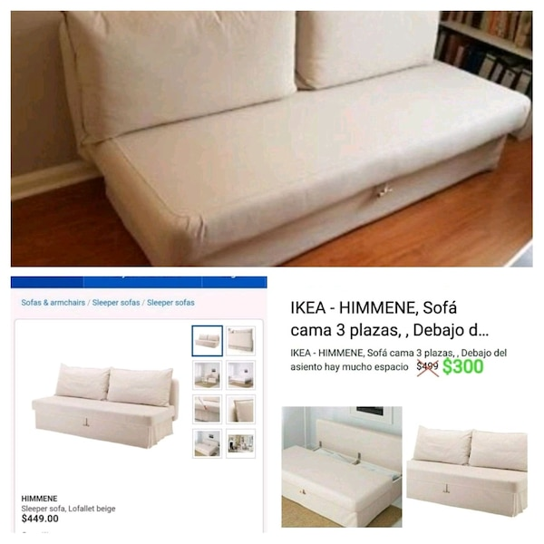Astounding Sofa Bed 3 Seats Himmene By Ikea Bralicious Painted Fabric Chair Ideas Braliciousco