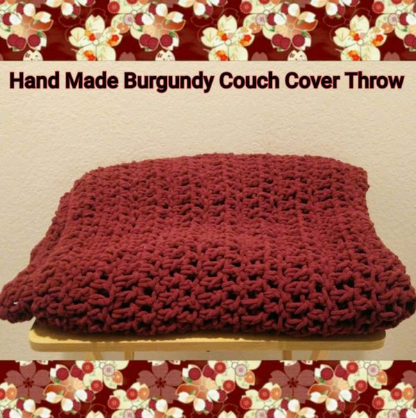 Swell Hand Made Burgundy Couch Cover Throw Unemploymentrelief Wooden Chair Designs For Living Room Unemploymentrelieforg