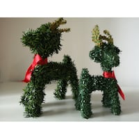 2 Artificial Grass Reindeer (mother + child)  Burnaby