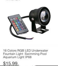 16 Colors RGB Led Under Water Fountain Light - Swmming Pool Aquarium  South Gate