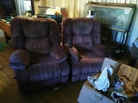 brown leather 3-seat recliner sofa Westminster, 80031