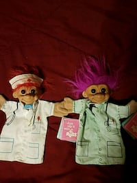 VINTAGE TROLLS RARE  by RUSS  hand puppets Easton, 18045