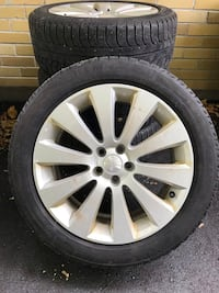 Set of Four Winter Tires on Rims 225/50/R16