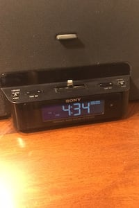 Sony Audio System (iPhone 5,6,7, etc. Compatible) + Alarm Clock Sterling, 20165