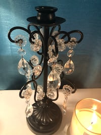 Black and white floral candle holder Charlotte, 28226