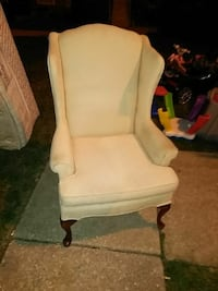 beige fabric wing chair Baltimore, 21225