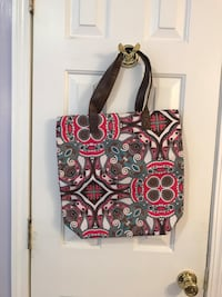 black, white, and red floral tote bag Conway, 29526