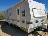 white and brown RV trailer Anthony, 79821