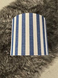 Navy striped lamp shade Calgary, T3L 3A4