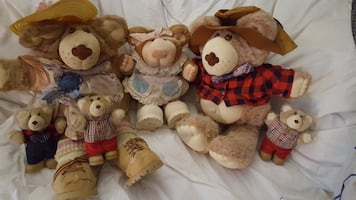 Fur skin bear doll collection