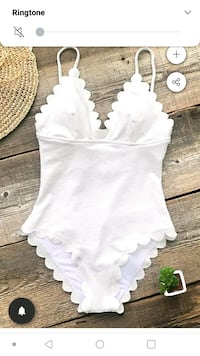 All whit cupshe swimsuit Carter Lake