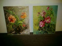 Vintage paintings on board canvas.  Signed. Toronto