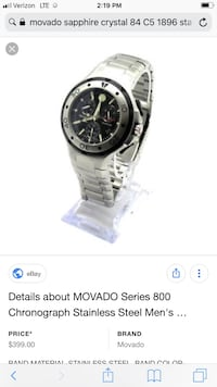 MOVADO men's watch Hendersonville, 28791