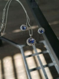 Three piece set earrings and necklace
