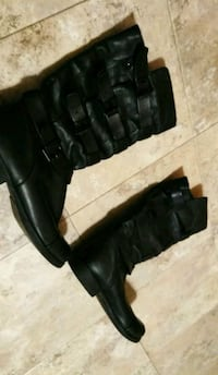 Black Leather Boots (Size 9) Bowie