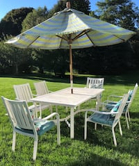 white and green patio set Hingham, 02043